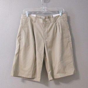 NEW IZOD Husky Fit Khaki Tan Shorts Size 20